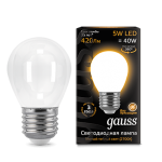 Светодиодная LED лампа Gauss LED Filament Globe OPAL E27 5W 2700K